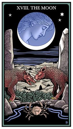 Carta da Luna do Raziel Tarot